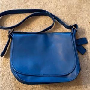 Coach Blue Mini Messenger Bag/Purse